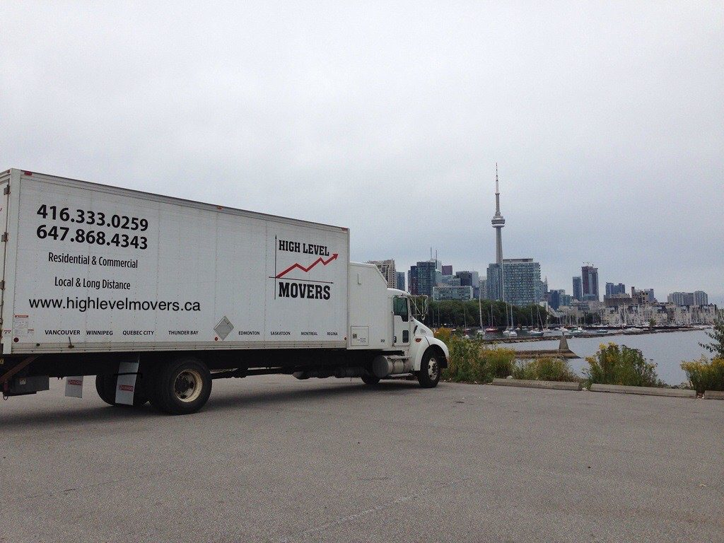 High Level Movers truck - guardians when it comes to moving services Toronto.
