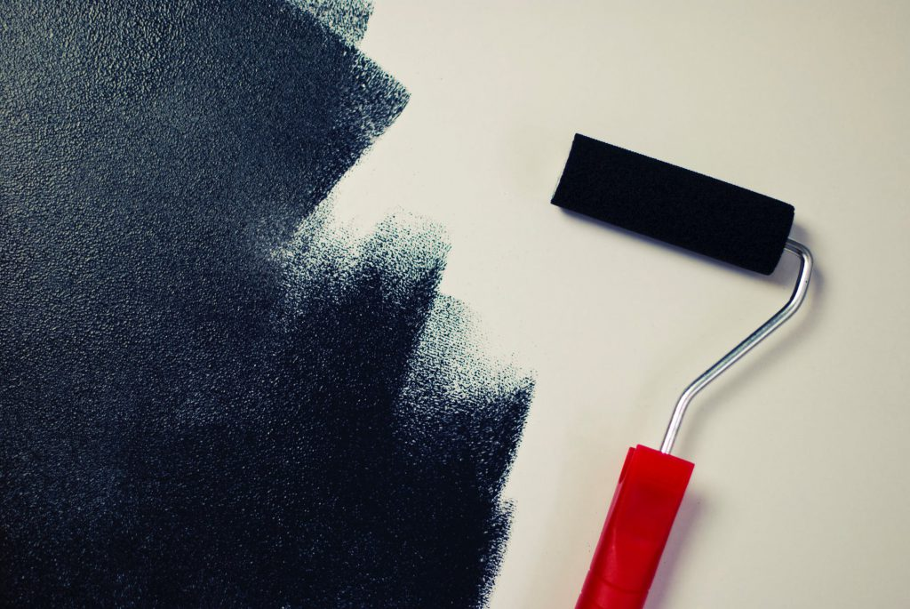Painting the walls is good way to start redecorate your home on a budget