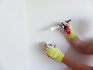 The new trend is to paint only one wall. It's cool and it saves money.