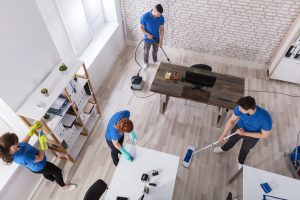 Our professional cleaning crew can clean for you after the move is done