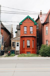 An old red house in Toronto