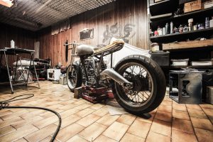 Motorbike in the garage