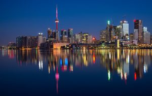 Toronto night landscape