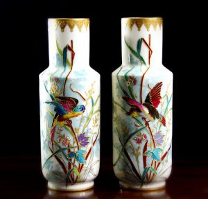 two china vases
