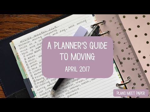 Notebook with moving checklist
